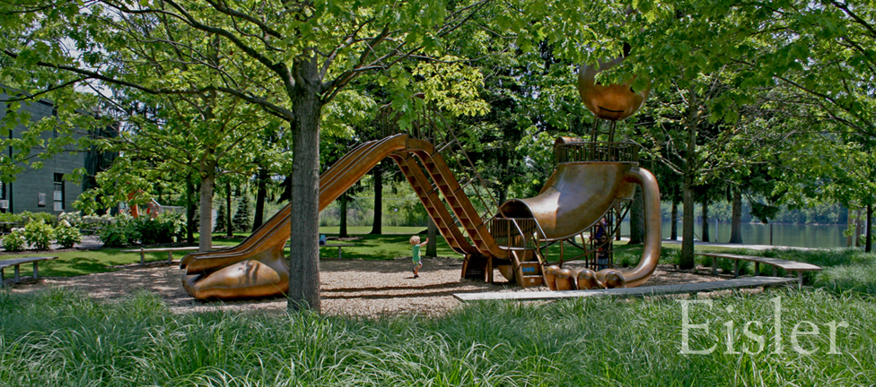 Giant play structure at Aspinwall Riverfront Park.