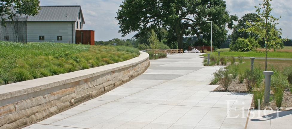 Walking path at Eden Hall.